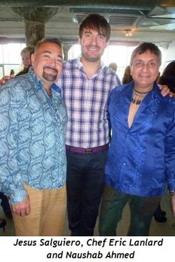 Jesus Salguiero, Chef Eric Lanlard and Naushab Ahmed