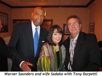 Blog 2 - Warner Saunders and wife Sadako with Tony Durpetti