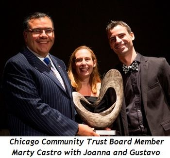 Blog 5 - Marty Castro (The Chicago Community Trust board member), Joanna Naftali and Gustavo Sansano