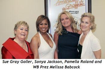 Blog 10 - Sue Gray Goller, Sonya Jackson, Pamella Roland and Melissa Babcock (WB Prez)