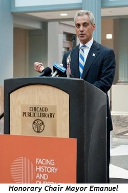 Blog 1 - Mayor Emanuel, honorary chair of Facing History and Ourselves