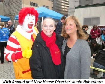 With Ronald and New House Director Jamie Haberkorn