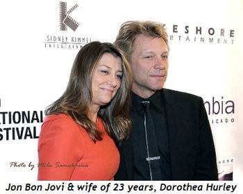 Blog 5 - Jon Bon Jovi and wife of 23 years, Dorothea Hurley