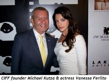 Blog 21 - Film Fest Founder Michael Kutza and actress Vanessa Ferlito