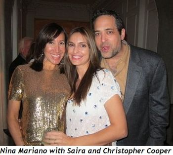 Blog 3 - Nina Mariano with Saira and Christopher Cooper