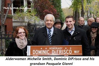 Blog 1 - Alderwoman Michelle Smith, Dominic and his grandson Pasquale Gianni