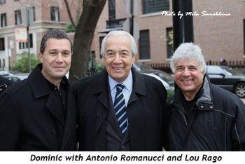 Blog 5 - Antonio Romanucci, Dominic and Lou Rago