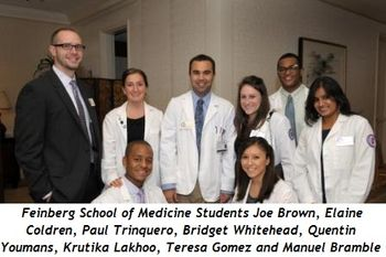 Joe Brown, Elaine Coldren, Paul Trinquero, Bridget Whitehead, Quentin Youmans, Krutika Lakhoo, Teresa Gomez, Manuel Bramble (all are Feinberg School of Medicine Students)