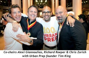 Blog 1 - Co-chairs Alexi Giannoulias, Richard Roeper and Chris Zorich with UP founder Tim King