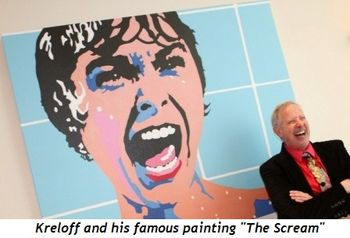 "2 - Artist Kreloff and his famous painting ""The Scream"""