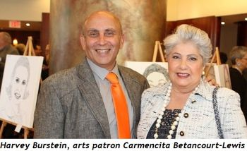 6 - Harvey Burstein with arts patron Carmencita Betancourt-Lewis