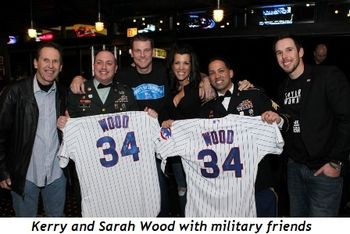 5 - Kerry and Sarah Wood with military friends