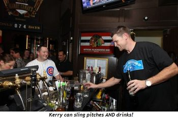 Kerry slings drinks, too!