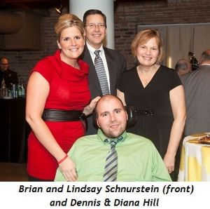 2 - Brian and Lindsay Schnurstein (front) and Dennis & Diana Hill
