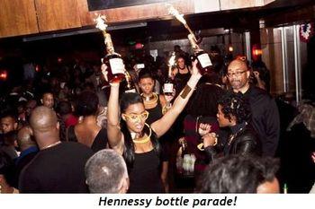 5 - Hennessy bottle parade