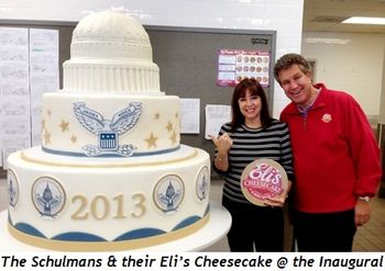 1 - The Schulmans and their Eli's Cheesecake at the Inaugural