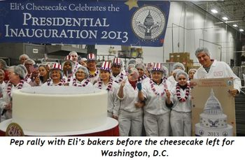 5 - Pep rally with Eli's bakers before the cheesecake left for Washington, DC.