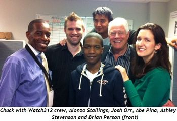Chuck with Watch312 crew, Alonzo Stallings,  Josh Orr, Abe Pina, Ashley Stevenson and Brian Person (front)