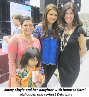 2 - Anupy and her daughter with honoree Corri McFadden and co-host Debi Lilly