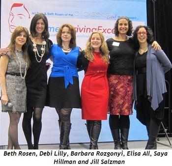 3 - Beth Rosen, Debi Lilly, Barbara Rozgonyi, Elisa All, Saya Hillman, Jill Salzman