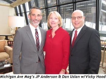 7 - Michigan Ave. Mag's JP Anderson and Dan Uslan with Vicky Hood