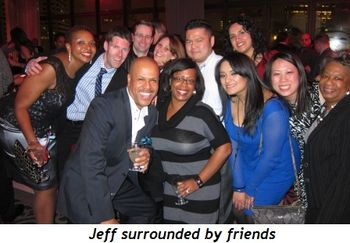 Jeff surrounded by friends