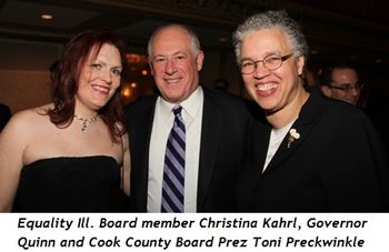 6 - Equality Ill. Board member Christina Kahrl, Governor Quinn and Cook County Board Prez Toni Preckwinkle