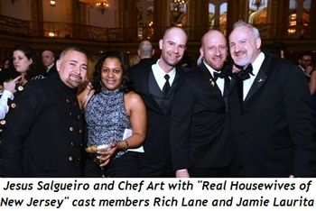 10 - Jesus Salgueiro and Chef Art with Real Housewives of NJ cast members Rich Lane and Jamie Laurita