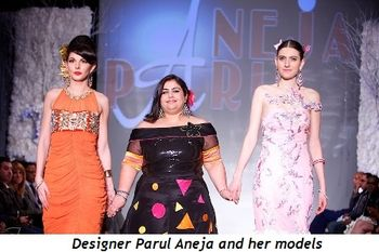 8 - Designer Parul Aneja and her models