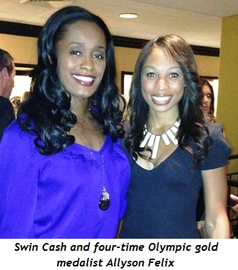 1 - Swin Cash and 4X Olympic Gold Medalist, Allyson Felix