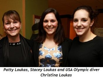 Patty Loukas, Stacey Loukas, USA Olympic Diving Team Christina Loukas