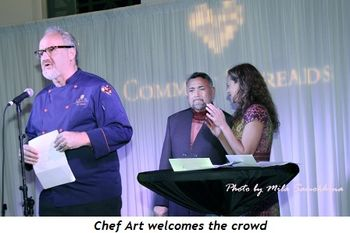 1 - Chef Art welcomes the crowd