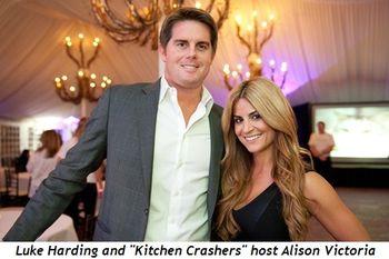 4 - Luke Harding and Kitchen Crashers' host Alison Victoria