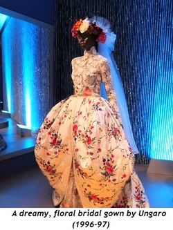 2 - A dreamy, floral bridal gown by Ungaro (1996-97)