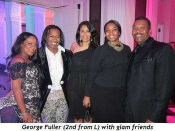 9 - George Fuller (2nd from L) with glam friends