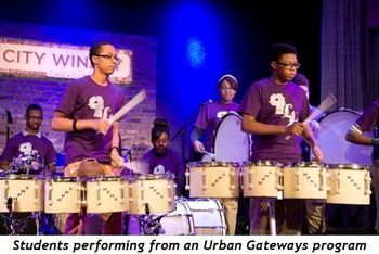 4 - Students performing from an Urban Gateways program