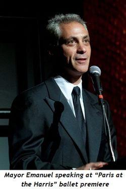 "5 - Mayor Emanuel speaking at ""Paris at the Harris"" ballet premiere"