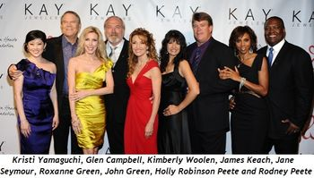 """7 - Jane Seymour and Glenn Campbell at """"Open Hearts"""" fundraiser"""
