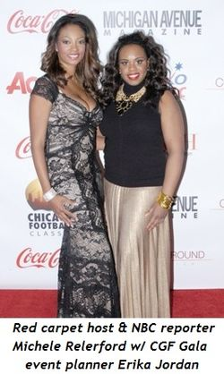 8 - Red Carpet Host and NBC reporter, Michele Relerford and CGF Gala event planner, Erika Jordan