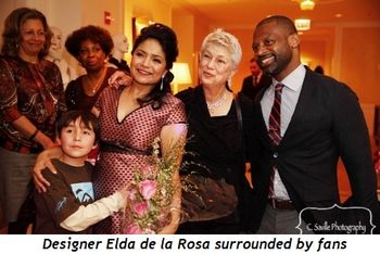 1 - Designer Elda de la Rosa surrounded by fans