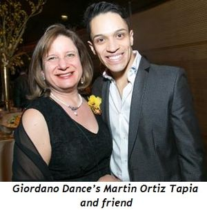6 - Giordano Dance's Martin Ortiz Tapia and friend