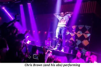 2 - Chris Brown and his abs performing
