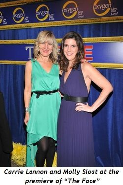 "4 - Carrie Lannon and Molly Sloat at the premiere of ""The Face"""