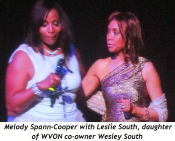 21 - Melody Spann-Cooper with Leslie South, daughter of WVON co-owner Wesley South