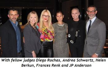 7 - With fellow judges Diego Rochas, Andrea Schwartz, Helen Berkun, Frances Renk and JP Anderson