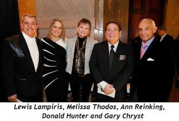 1 - Lewis Lampiris, Melissa Thodos, Ann Reinking, Donald Hunter, Gary Chryst