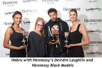 2 - Hebru with Hennessy's Deirdre Laughlin and Hennessey Black Models