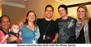 Duncan and Kelly-Rae Keith with the Pfister family