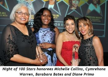 6 - Night of 100 Stars honorees Michelle Collins, Cymrehona Warren, Barabara Bates and Diane Primo