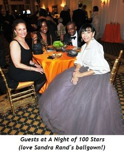 9 - Guests at A Night of 100 Stars-Sandra Rand in white-grey ballgown
